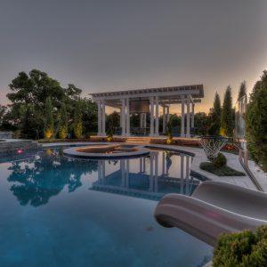 pool area designed for former Atlanta Falcons IL Curtis Lofton