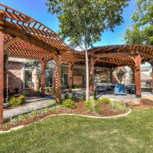 residential landscaping custom pergola project