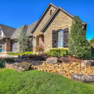 Front yard landscaping in Edmond OK