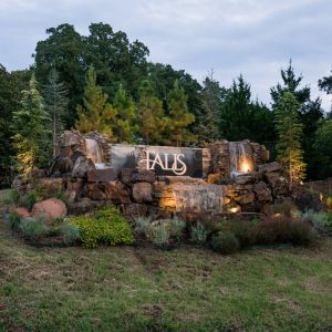 Falls housing addition landscaped entrance OKC