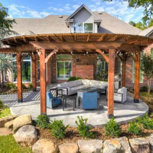 Oklahoma residential landscaping custom pergola project