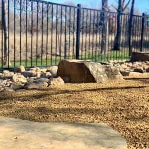 Backyard Boulder Hardscaping