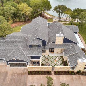 Aerial view of Cascade Drive estate with landscaping overview
