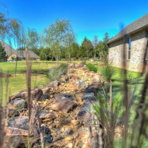 Dry Creek Riverbed landscaping