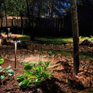 Nelson Landscaping outdoor lighting project