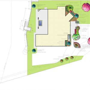 residential landscape design by Nelson Landscaping for Street of Dreams Integrity House