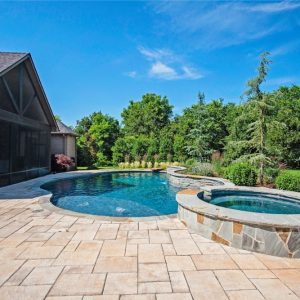 Nelson's Inground pool with paver patio
