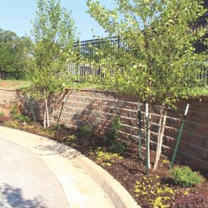 retaining wall service by Nelson Landscaping Edmond OK