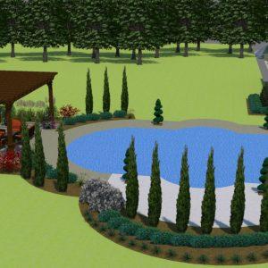 Backyard Pool Landscaping Design