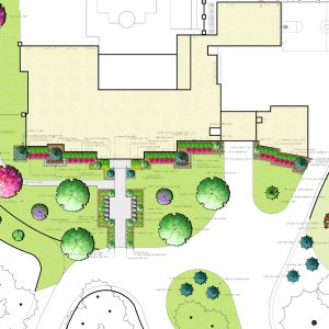 Front Yard Landscaping Design for for retired NFL IL Curtis Lofton