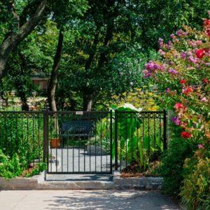 Gated Backyard Garden Landscaping Entrance