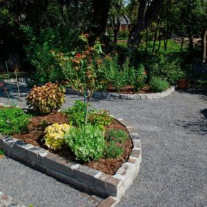 Backyard Garden Landscaping with Walkways