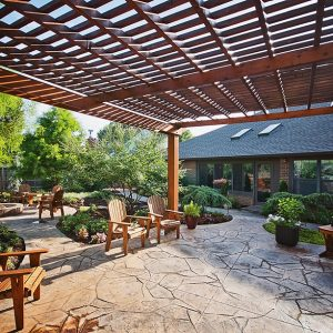 Outdoor Living with Pergola & Fire Pit