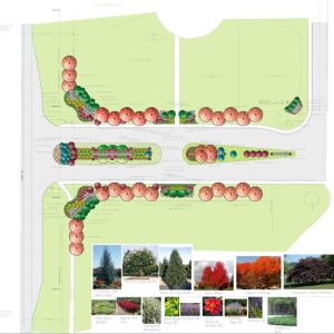 Landscape Design project map by Oklahoma City based Nelson Landscaping Service