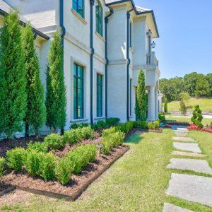 Landscaping Design with slab sidewalk