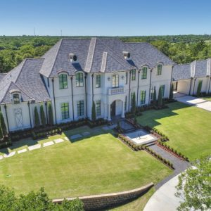 Arial view of former Atlanta Falcons IL Curtis Lofton's house by Nelson landscaping