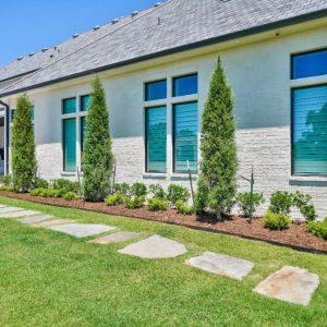 custom sidewalk landscaping