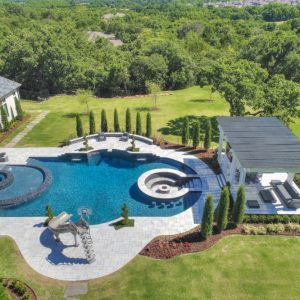 Pool Landscaping Arial View of former Atlanta Falcons IL Curtis Lofton