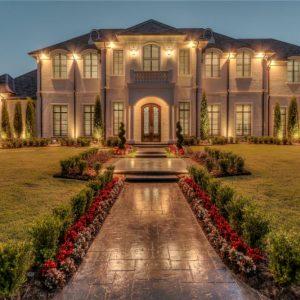 Oklahoma Mansions Outdoor Lighting designed for former Atlanta Falcons IL Curtis Lofton