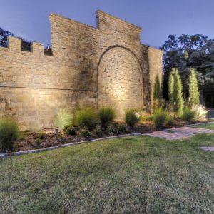 Oklahoma castle house wall lighting