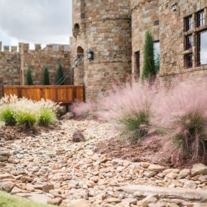 Oklahoma castle house Front Yard Flower Bed Landscaping