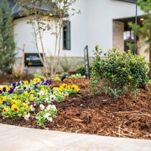 Front Yard Flower Bed Landscaping by Nelson Landscaping