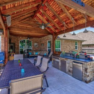 Backyard Outdoor Living Space by Nelson Landscaping