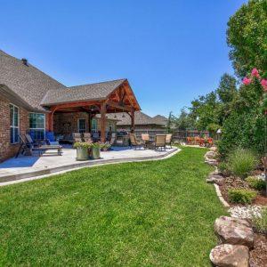 Backyard Landscaping & Patio with Pergola