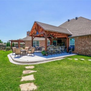 Backyard Landscaping, Hardscaping, & Walkway in Edmond OK