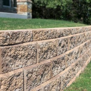 Four layer big block retaining wall by Nelson Landscaping service