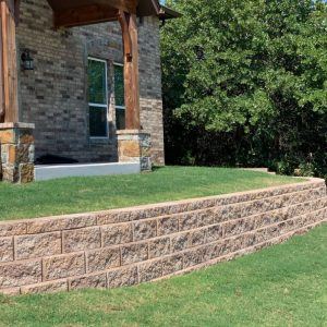 Earth colored retaining wall project