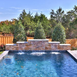 Backyard Pool Landscaping and modern landscape design by Nelson Landscaping
