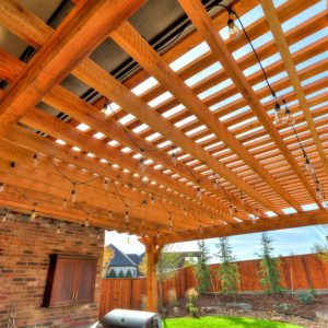 Backyard Pergola with Outdoor Kitchen
