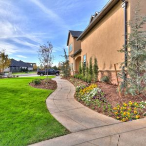 Driveway & Walkway Landscaping classic home design