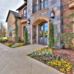 classic home design Front Entrance Landscaping Avalon Signature Homes