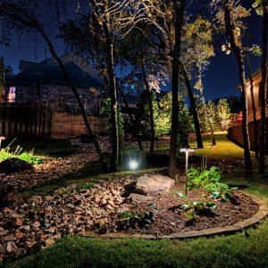 Littlejohn House Landscape Lighting