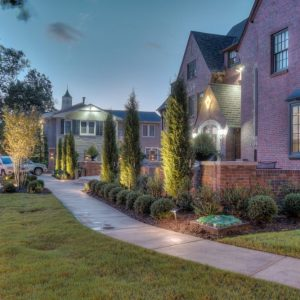 Front Entrance Landscaping with Lighting
