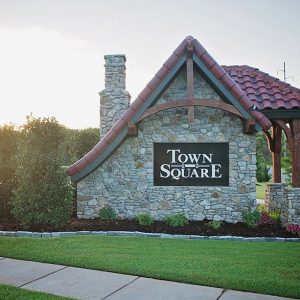 Town Square Community Neighborhood Entrance Landscaping