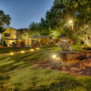 Front Yard Landscaping with Lighting