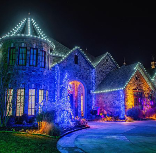 Professional Christmas Lights Installation OKC   Home & Commercial