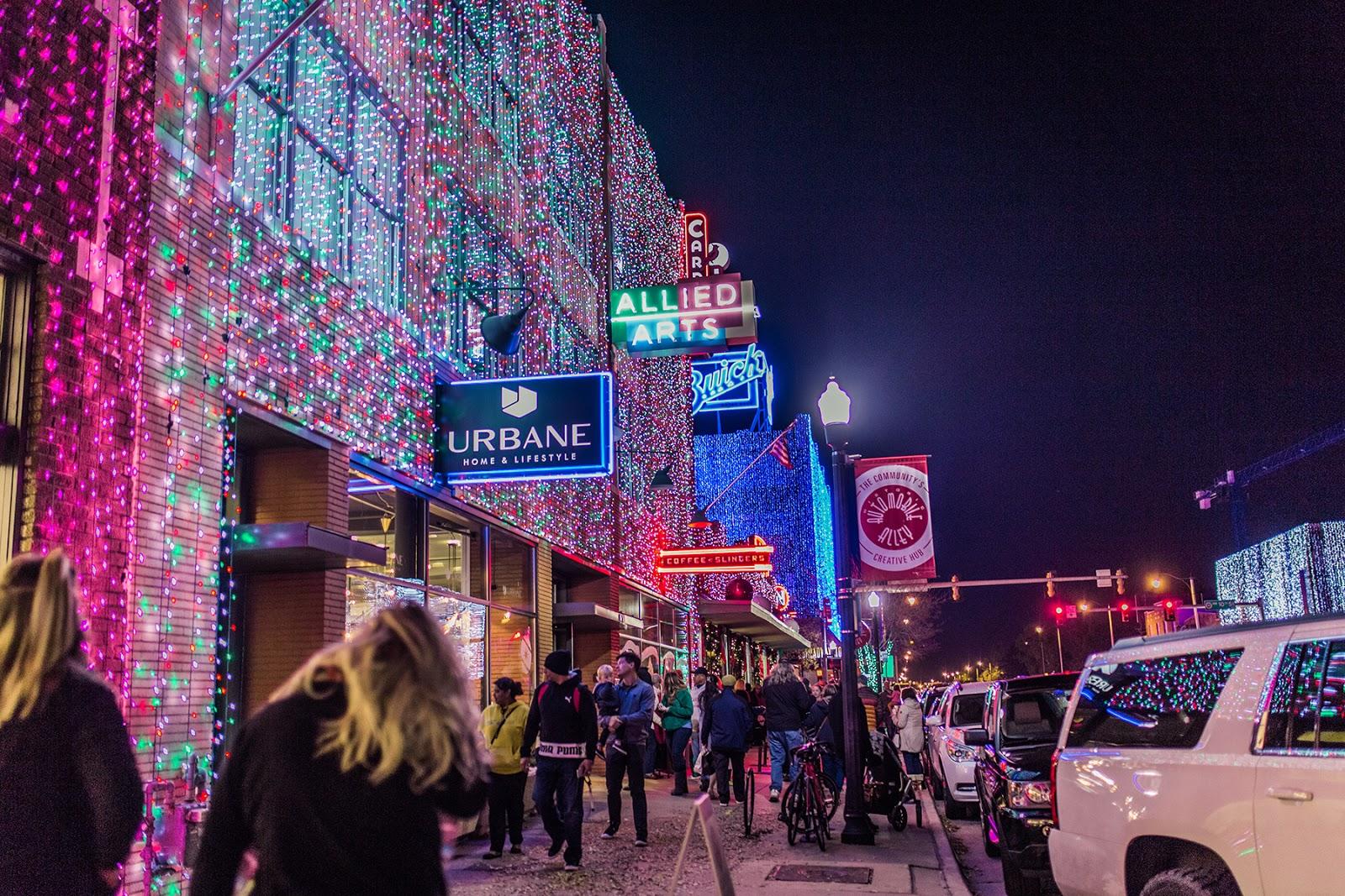 Automobile Alley & Lights on Broadway - Oklahoma City, OK